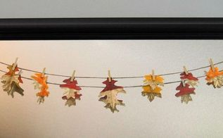 fall gold dipped leaf banner, crafts, seasonal holiday decor