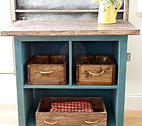 Turn Old Bookshelf Into Rolling Kitchen Island, Diy, Painted Furniture,  Repurposing Upcycling,