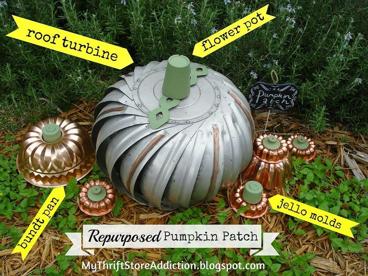 steampunk inspired pumpkin patch repurposed, crafts, gardening, repurposing upcycling, seasonal holiday decor
