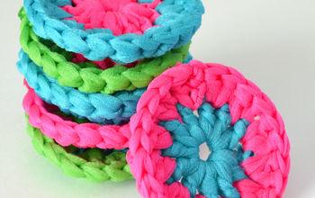 Neon Crochet Pot Scrubbers
