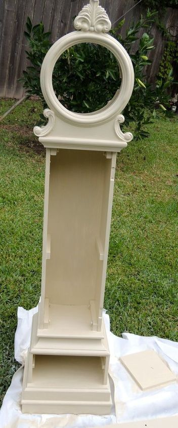 grandfather clock antique paint makeover refinish, painted furniture, repurposing upcycling