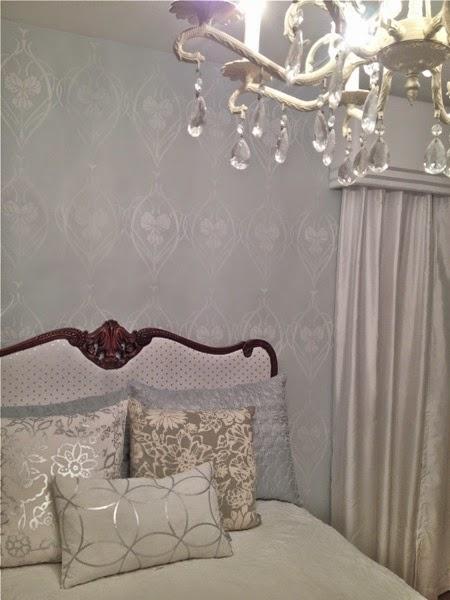 Hollywood Regency Stenciled Bedroom Makeover   Hometalk