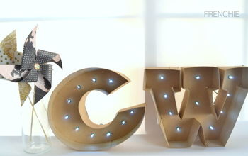 diy marquee letters, crafts, home decor