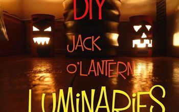 diy jack o lantern luminaries tin can, crafts, halloween decorations, repurposing upcycling, seasonal holiday decor