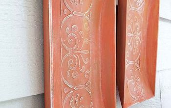 wall art stenciling aged terracotta replica, chalk paint, crafts, diy, home decor, painting, wall decor