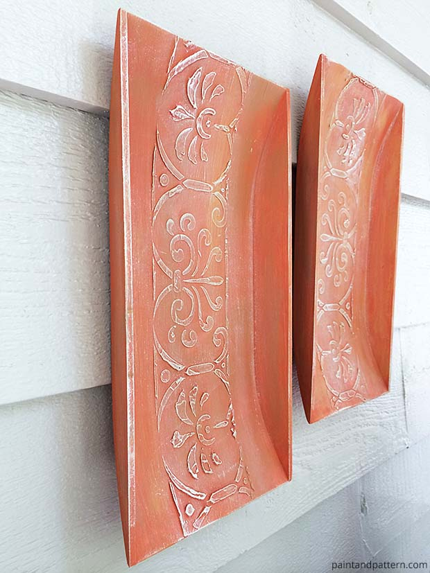Wall Art Stenciling Aged Terracotta Replica Chalk Paint Crafts Diy Home Decor