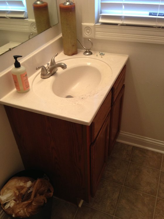 Before after a 210 guest bathroom refresh hometalk for Inexpensive bathroom updates