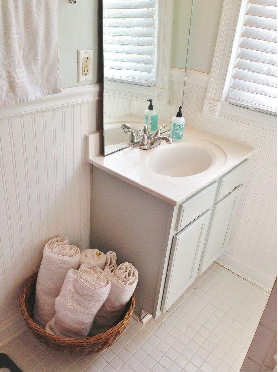 Before After A Guest Bathroom Refresh Hometalk - Bathroom refresh ideas