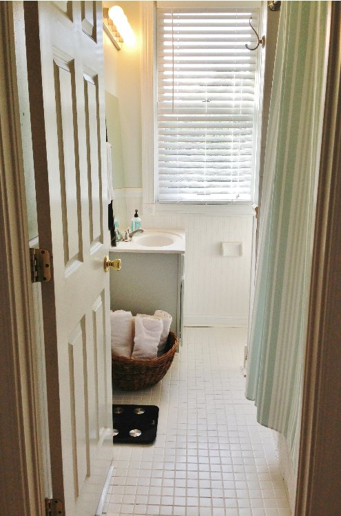 Guest Bathroom Redo Update Budget Affordable Before After Ideas Diy Flooring