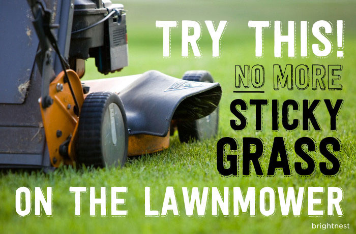 quick tip prevent grass from sticking to your lawnmower, landscape