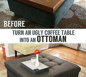Ugly Coffee Table Turned Tufted Ottoman Hometalk
