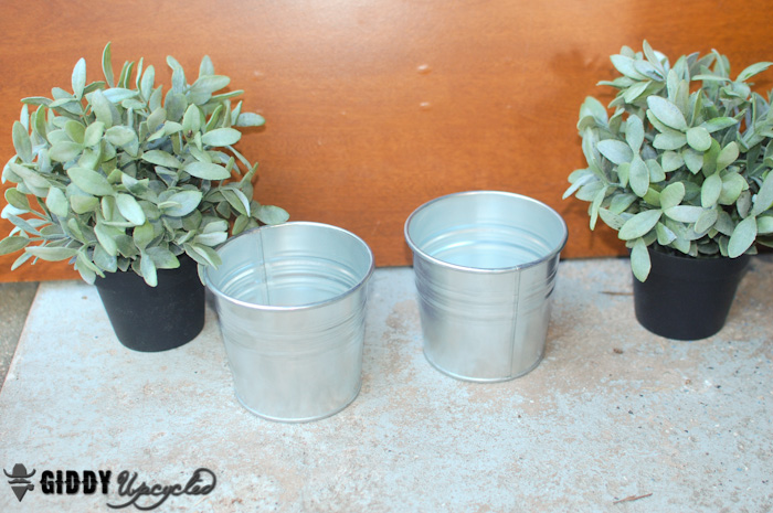 ikea planters whitewashed french vintage, chalk paint, gardening, repurposing upcycling