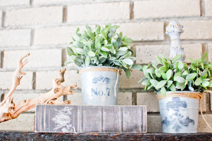 ikea planters whitewashed french vintage, chalk paint, gardening, repurposing upcycling