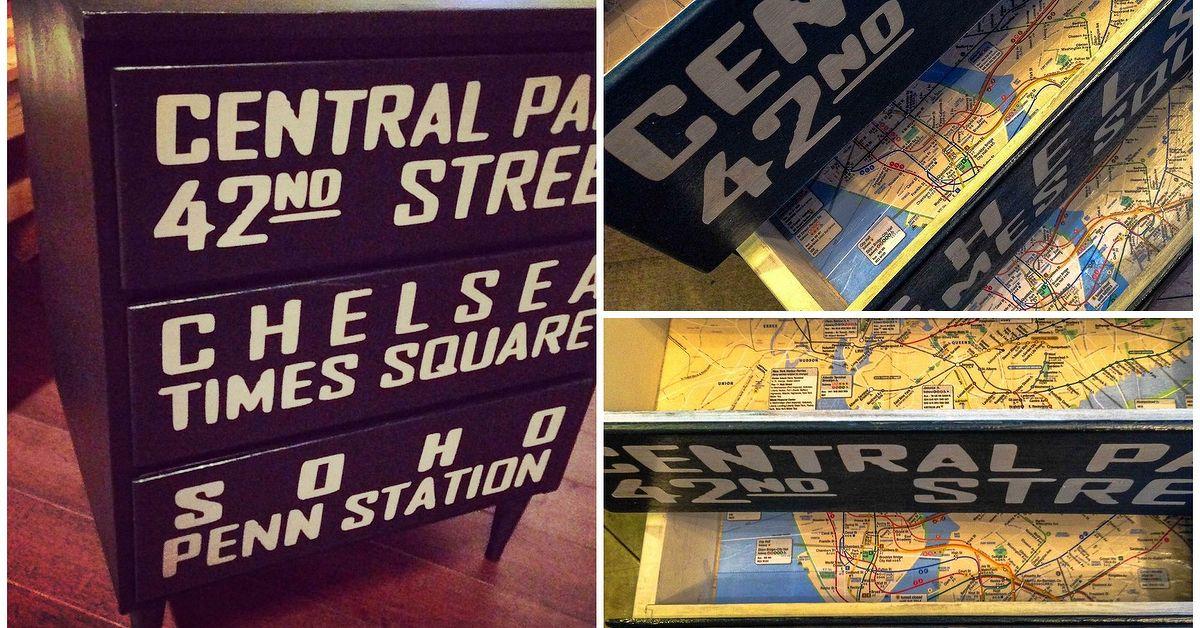 Mcm Nyc Subway Map Dresser Hometalk