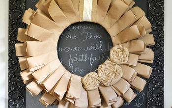 Make a Frugal Fall Wreath From Recycled Paper & Fabric Scraps