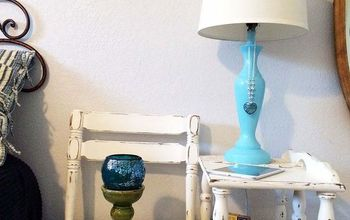 painted lamp makeover thrifted, home decor, lighting, painting