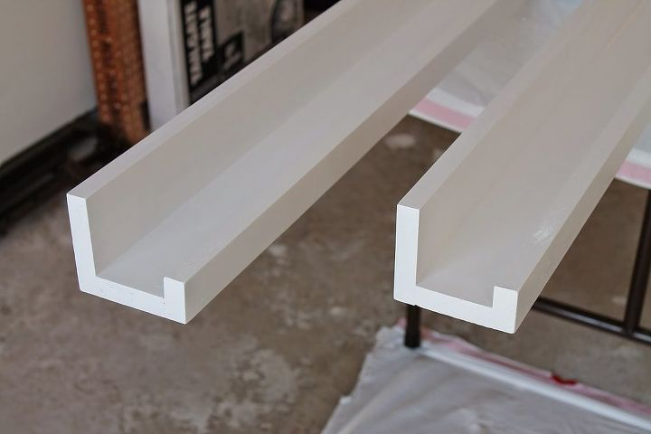 diy wood plank picture ledges gallery wall, diy, home decor, shelving ideas, wall decor, woodworking projects