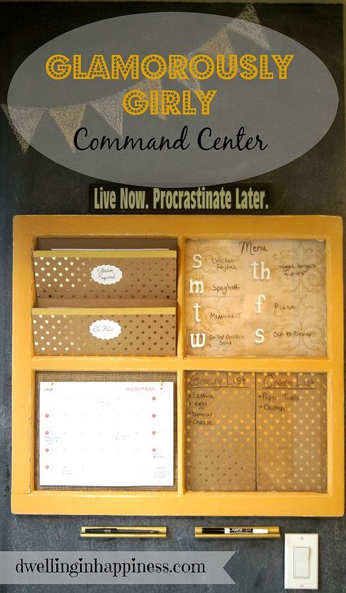 command center window frame upcycle girly, crafts, organizing, repurposing upcycling, wall decor