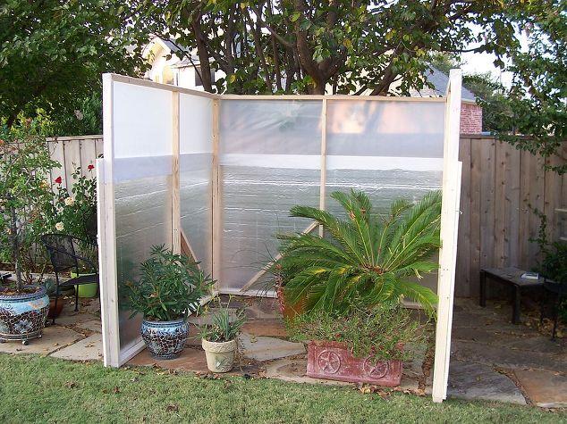 Backyard garden greenhouse built for 142 hometalk gardening greenhouse build budget winter protection plants diy gardening woodworking projects frame solutioingenieria Images