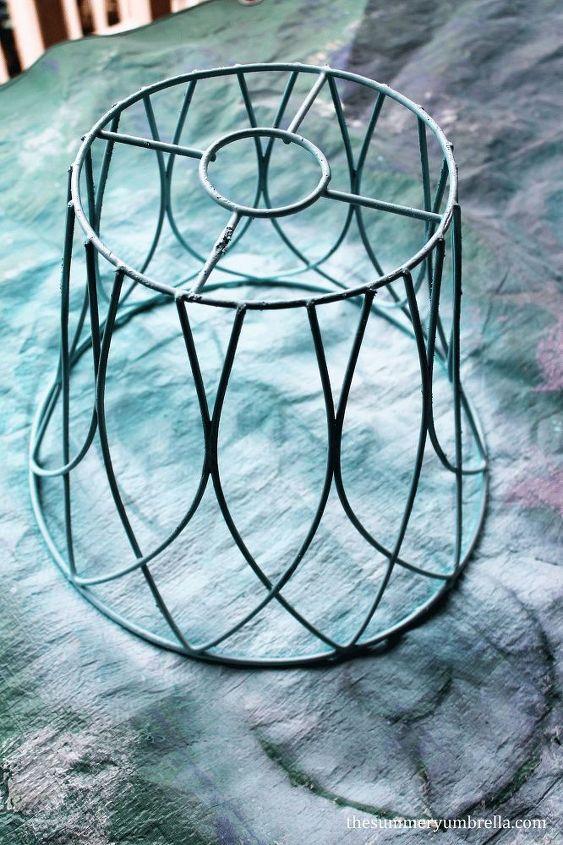diy repurposed lamp shade, lighting, repurposing upcycling