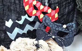 Halloween DIY: Stenciled Masks for a Masquerade