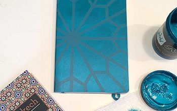 stencil moleskine journal cover, crafts