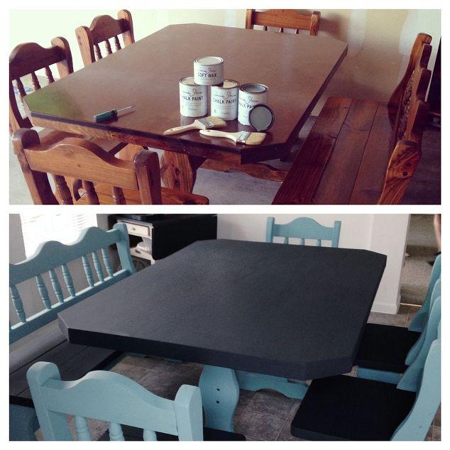 Painted Furniture Craigslist Table Set Makeover Chalk Paint Home Decor