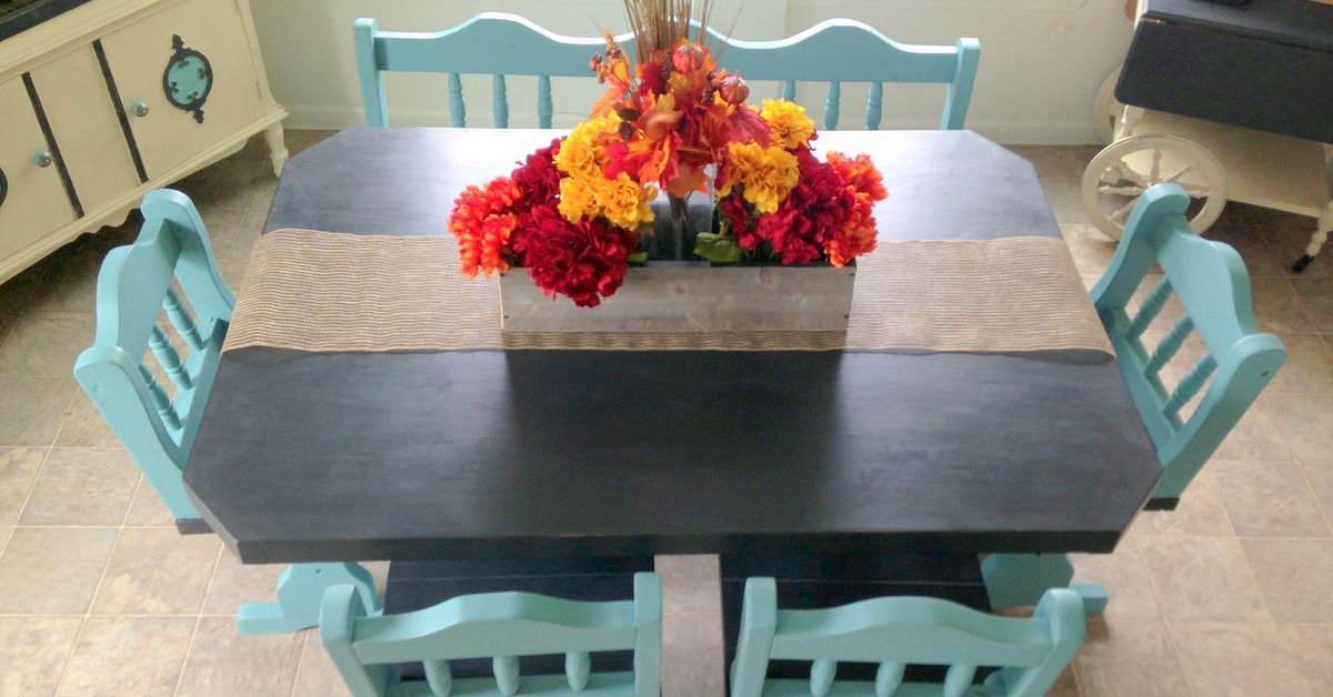 50 Craigslist Table Set Paint Makeover