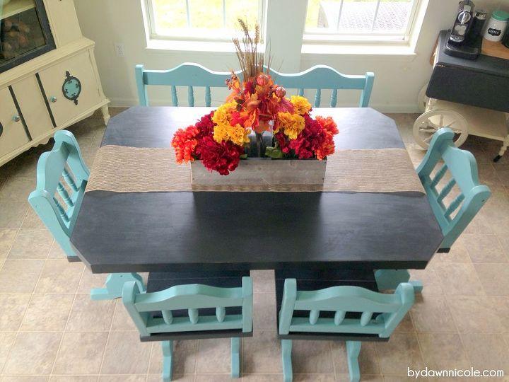 Craigslist Table Set Paint Makeover Hometalk - Craigslist conference table