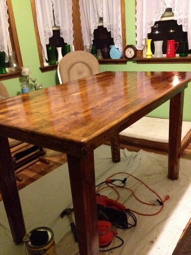 Old Kitchen Table Sealing a cedar kitchen table hometalk workwithnaturefo