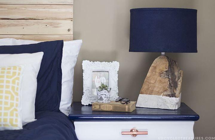 diy modern rustic wood lamp, diy, home decor, lighting, rustic furniture