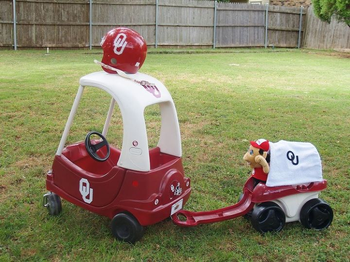 cozy coupe makeover yard sale salvage ou, crafts, painting