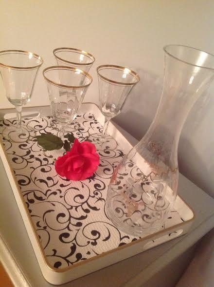 tray chic, home decor, repurposing upcycling