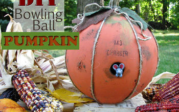 DIY Bowling Ball Pumpkin Tutorial