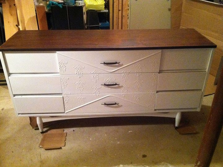 my refreshed dresser, painted furniture