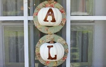 Fall Pumpkin Wreath W Dollar Store Items