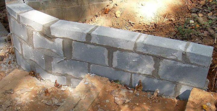 q i need a price for a concrete wall, concrete masonry, landscape