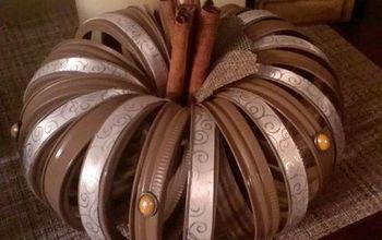 mason jar ring pumpkins, mason jars, repurposing upcycling, seasonal holiday decor