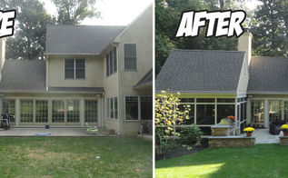 outdoor living renovation before after, landscape, outdoor living, patio