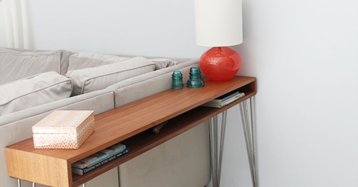 A Diy Midcentury Console Table