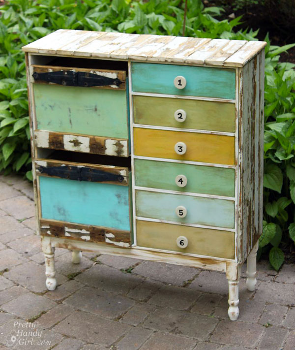 rustic ikea hacked cabinet, kitchen cabinets, painted furniture