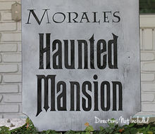 halloween decorations sign haunted mansion, crafts, halloween decorations, seasonal holiday decor