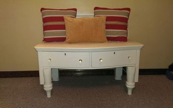 repurposed dresser headboard bench painted furniture, painted furniture