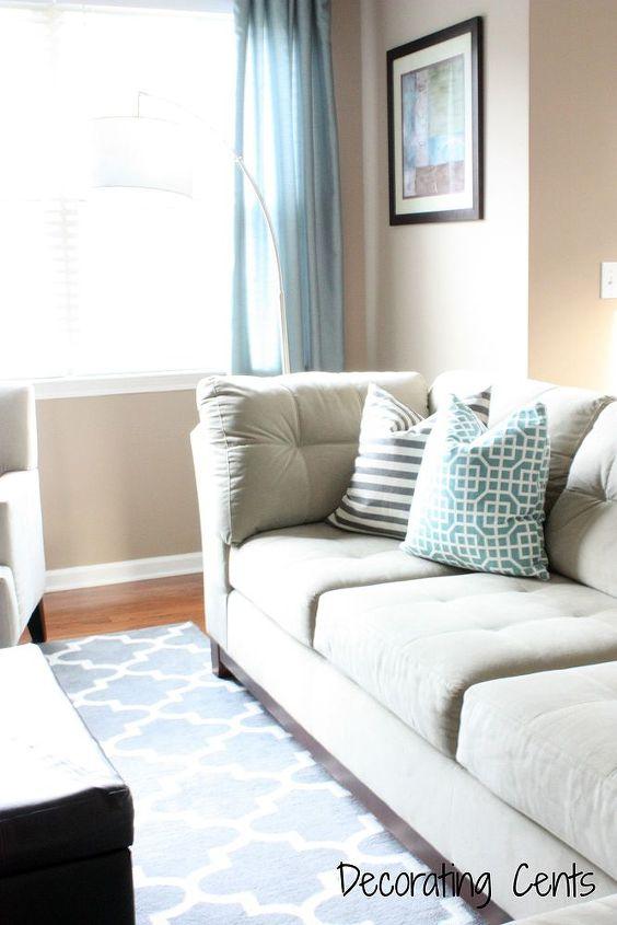 Target Living Room Furniture: Target Napkins Turned Pillows