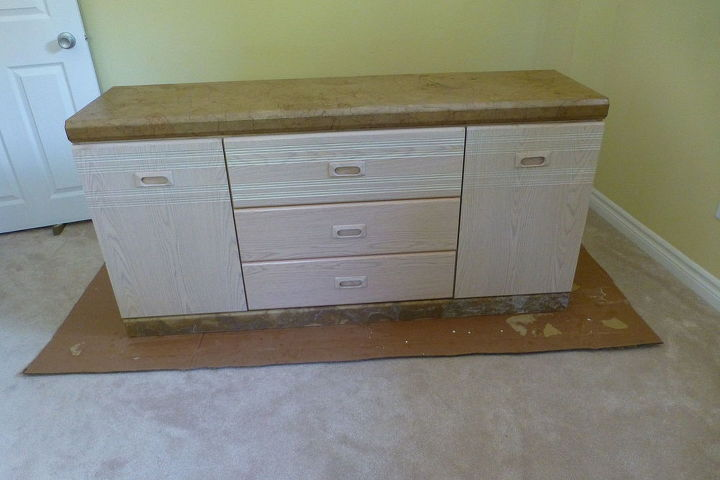 paper bag dresser redo, painted furniture, woodworking projects