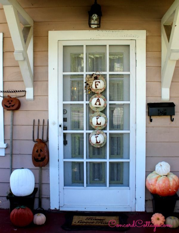 fall outdoor home porch decorations hometalk