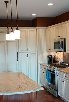 kitchen renovation makeover reveal fall inspired, countertops, kitchen cabinets, kitchen design, lighting