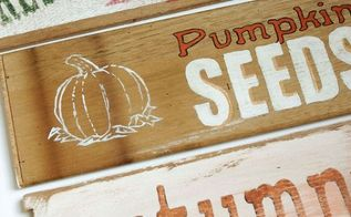 fall signs wooden drawer sides upcycle painting, crafts, seasonal holiday decor