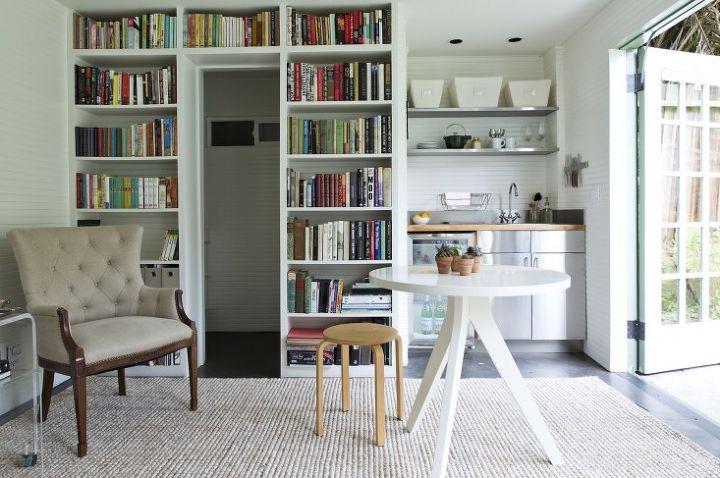 Garage Turned Guest Cottage With Budget Ikea Kitchenette Hometalk