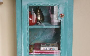 Foyer Cabinet- Made From Someone's Discarded Materials